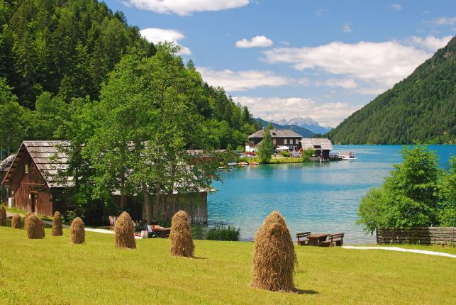 Kayntia w Austrii, jezioro Weissensee