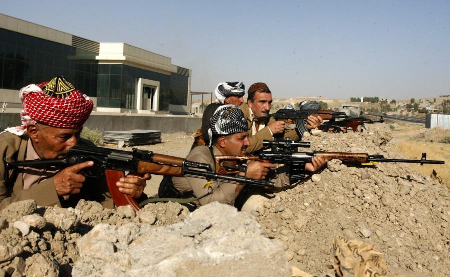 Kurdyjscy bojownicy w Iraku
