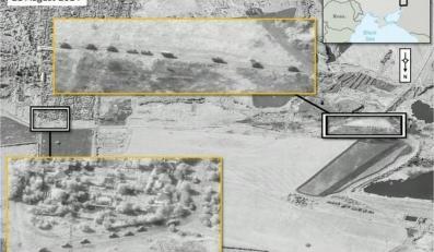 Inwazja wojsk rosyjskich na Ukrainie. Zdjecie satelitarne