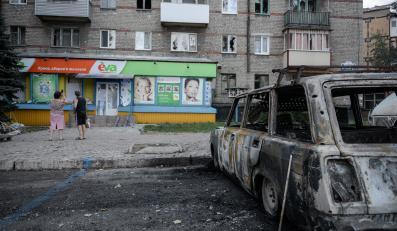 Donieck Ukraina wojna miasto