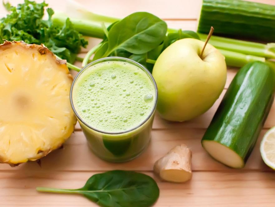 Zielony koktajl detoksykujący