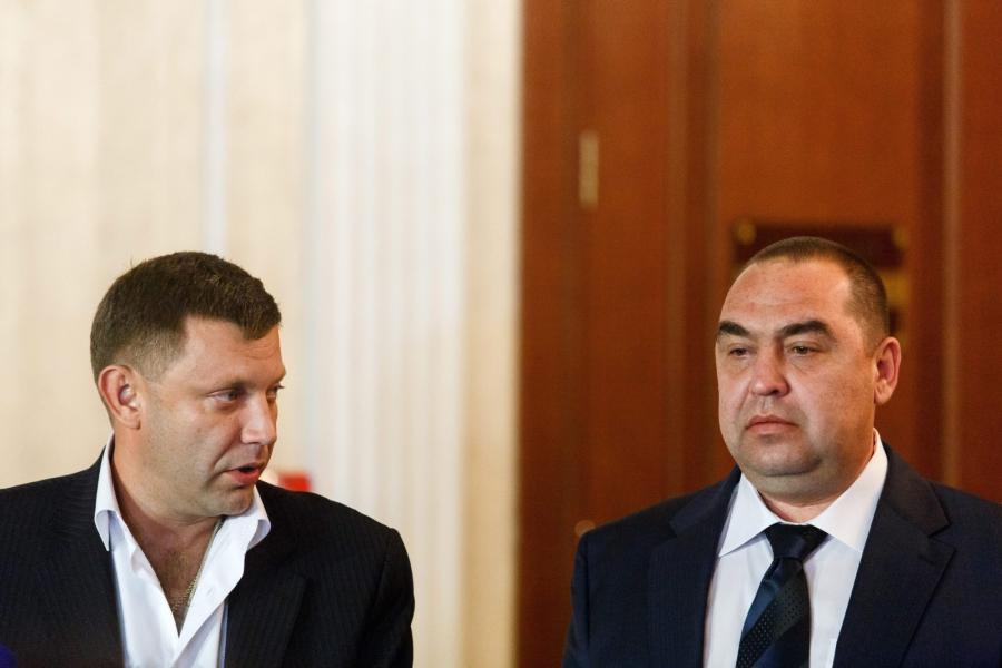 Aleksander Zacharczenko, premier samozwańczej Ludowej Republiki Donieckiej i przywódca Ługańskiej Republiki Ludowej, Igor Płotnicki
