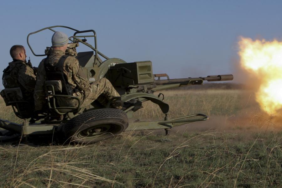 Ukraińcy z batalionu Azow