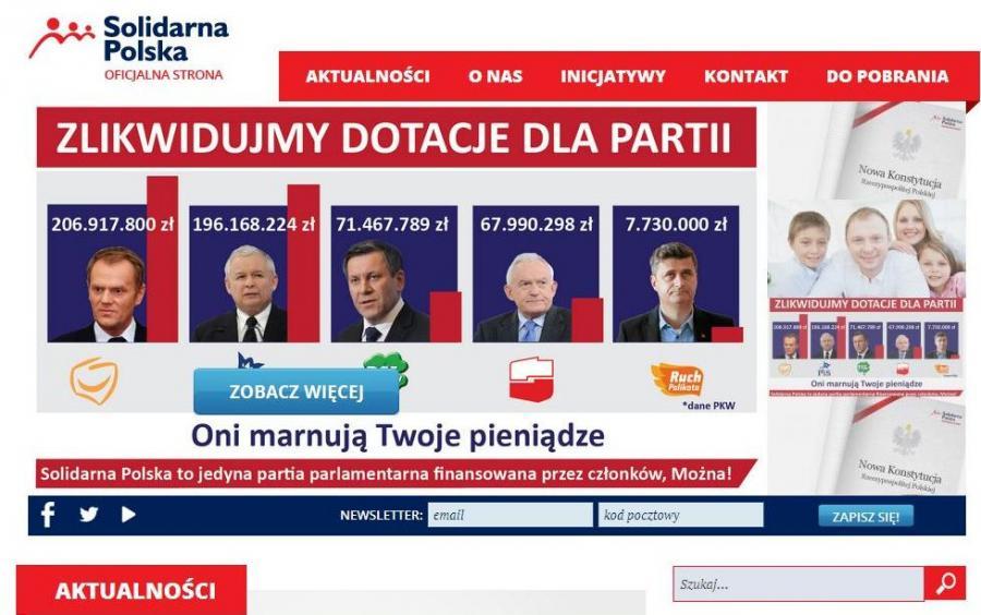 Strona internetowa Solidarnej Polski