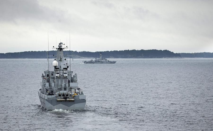 Szwedzki okręt wojenny szuka rosyjskiego intruza