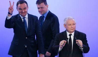 Andrzej Duda, Mariusz Błaszczak, Jarosław Kaczyński
