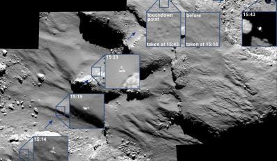 Moment tuż przed lądowaniem modułu Philae