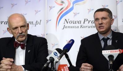 Janusz Korwin-Mikke i Przemysław Wipler
