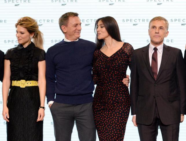 Lea Seydoux, Daniel Graig, Monica Bellucci i Christoph Waltz