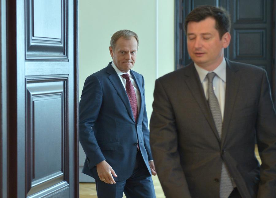 Igor Ostachowicz i Donald Tusk