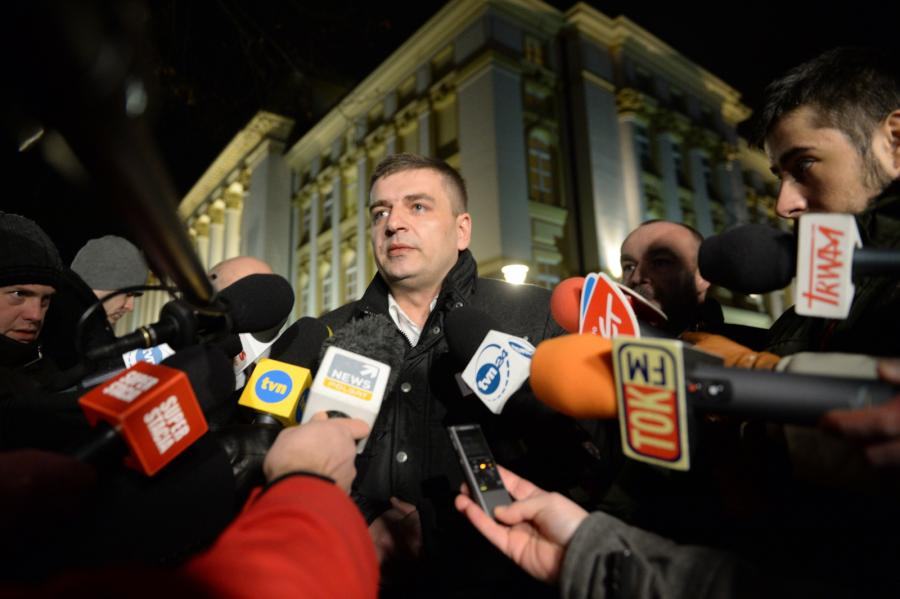 Minister zdrowia Bartosz Arłukowicz po spotkaniu z premier Ewą Kopacz