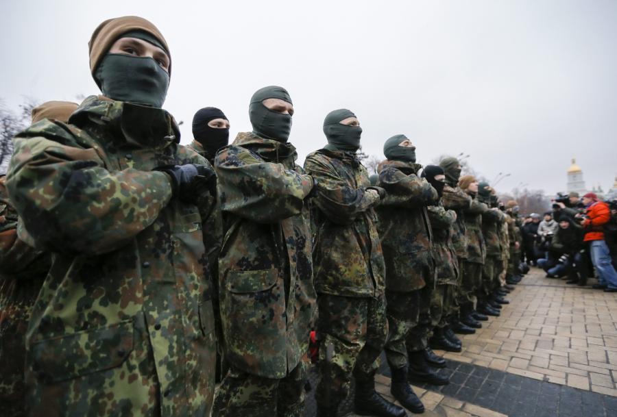 Ochotnicy z ukraińskiego batalionu \