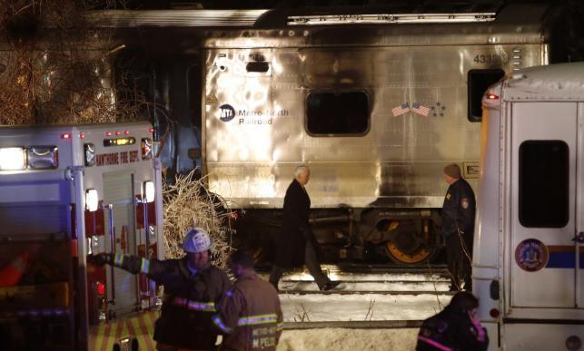 Miejsce zderzenia pociągu z samochodem
