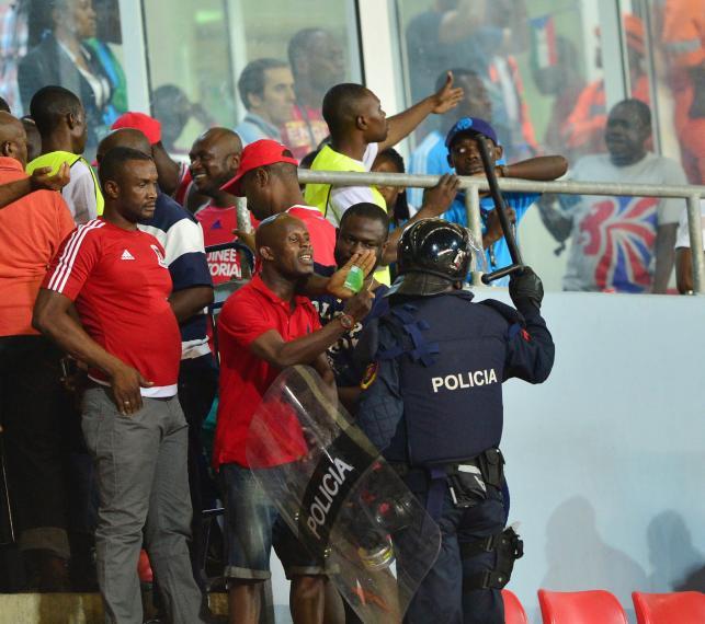 Zamieszki w czasie meczu Ghana - Gwinea Równikowa w czasie Pucharu Narodów Afryki