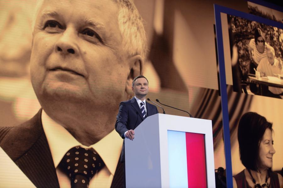 Andrzej Duda na konwencji PiS