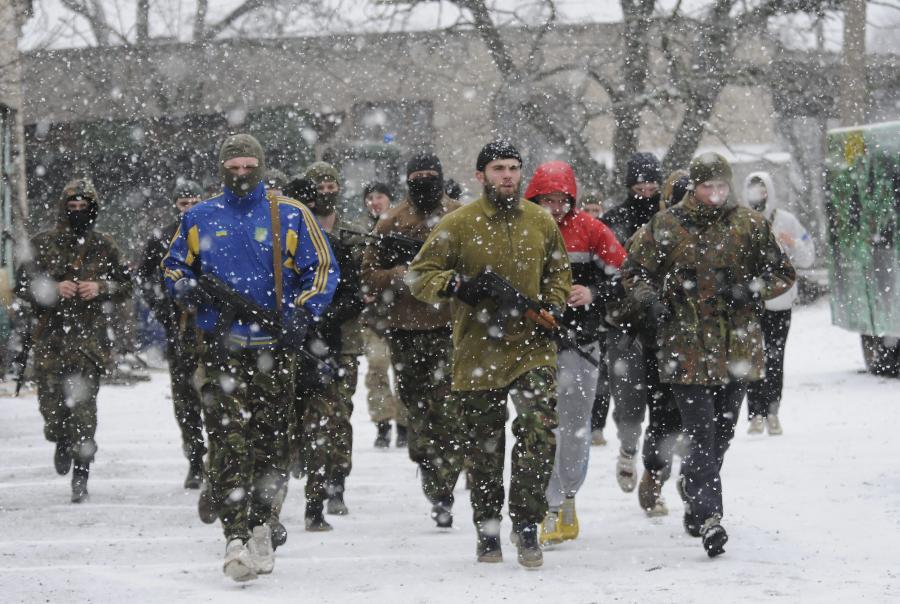 Żołnierze batalionu Azow