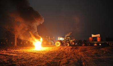 Blokada rolnicza w Zdanach