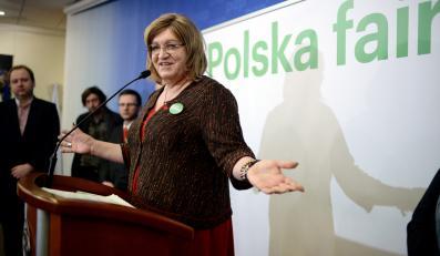Kandydatka na prezydenta RP z ramienia koalicji Partii Zielonych i Stowarzyszenia Społeczeństwo FAIR, Anna Grodzka
