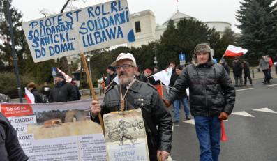 Rolniczy protest w Warszawie