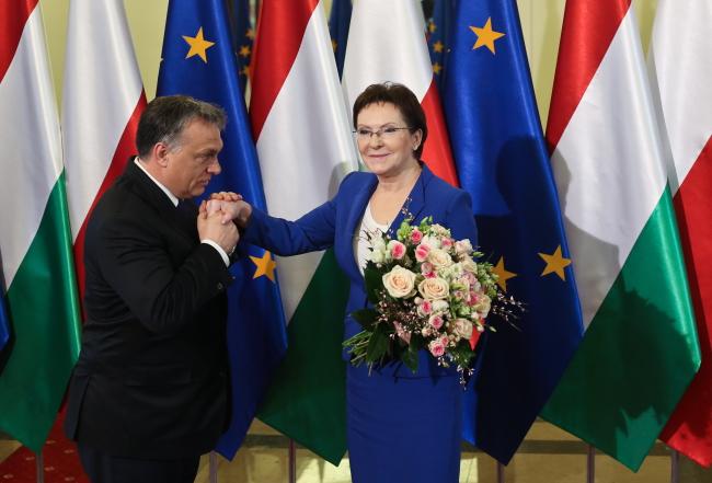 Viktor Orban w Warszawie