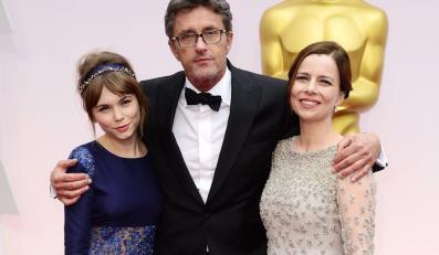 """Wielka radość z Oscara dla """"Idy"""": Agata Trzebuchowska, Paweł Pawlikowski i Agata Kulesza"""