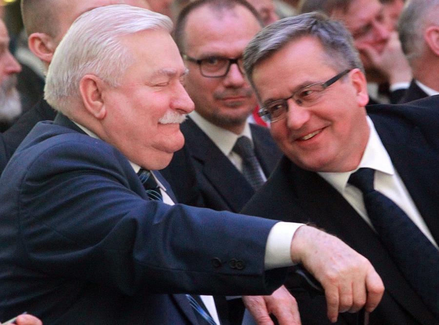 Lech Wałęsa i Bronisław Komorowski