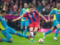 Liga niemiecka: Gol Roberta Lewandowskiego i wygrana Bayernu