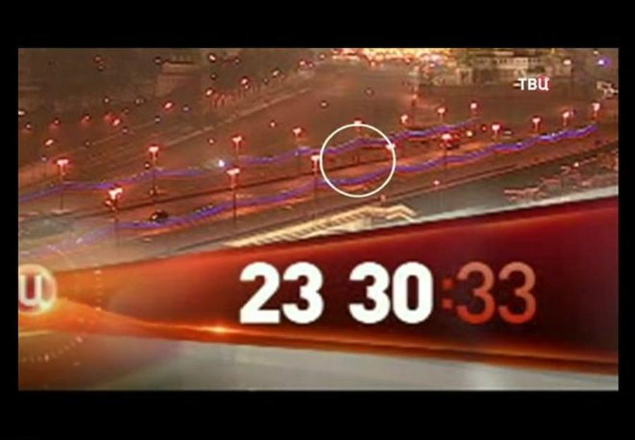 Most, na którym zabito Borysa Niemcowa. Nagranie z monitoringu