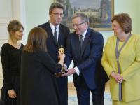 """""""Ida"""" w Belwederze. Zdobywcy Oscara spotkali się z Parą Prezydencką [ZDJĘCIA]"""