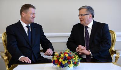 Prezydent RP Bronisław Komorowski i prezydent Rumunii Klaus Iohannis