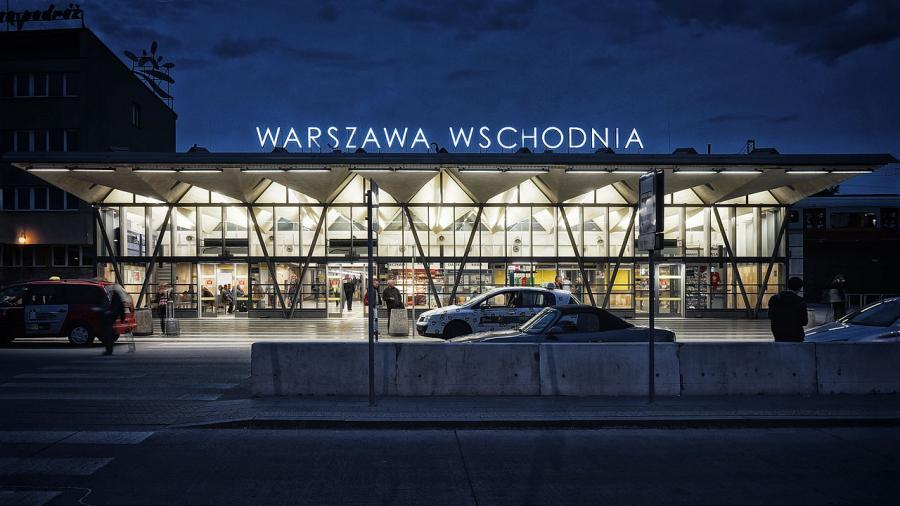 Dworzec Warszawa Wschodnia, fot. Radek Kołakowski, Licencja CC0