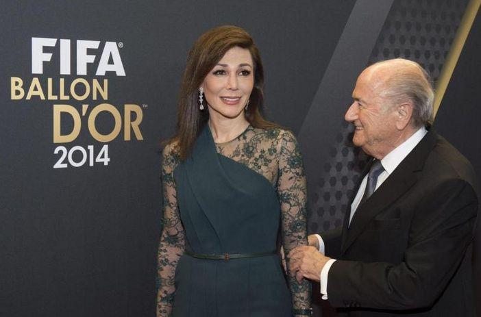 Sepp Blatter i Linda Barras