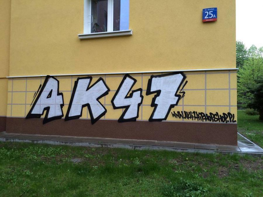 Jedno z graffiti na Muranowie