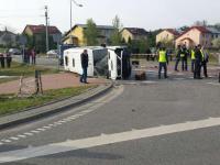 Pelplin. Wypadek busa, ranni w stanie ciężkim. ZDJĘCIA z akcji ratunkowej
