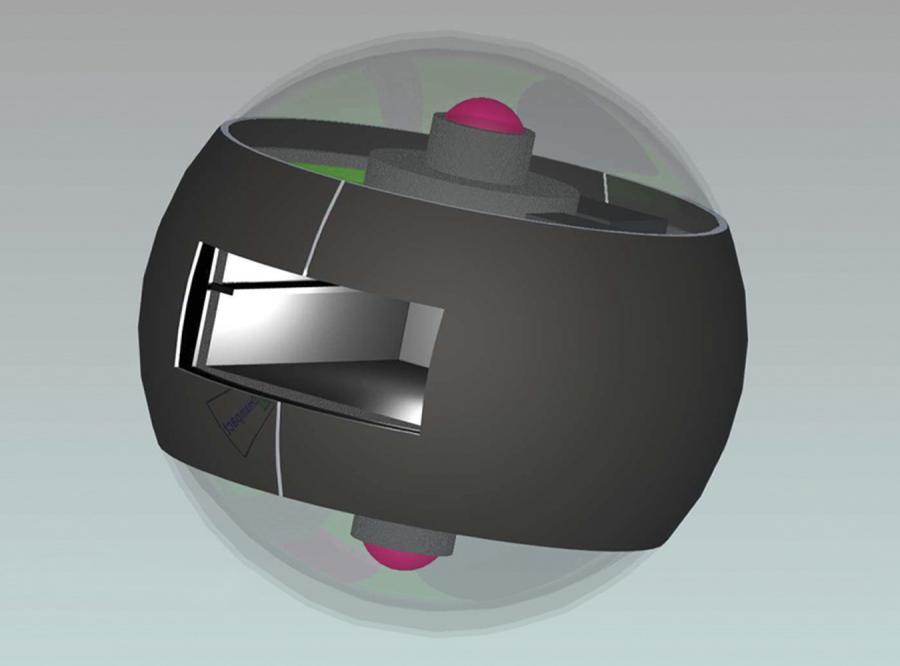 Kamera ukryta w granacie