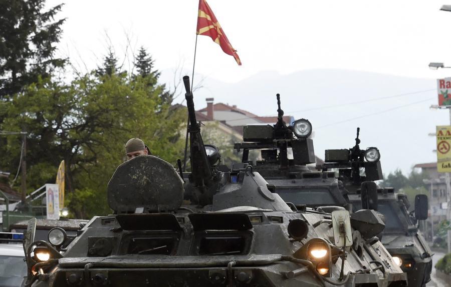 Policyjne siły w Kumanowie