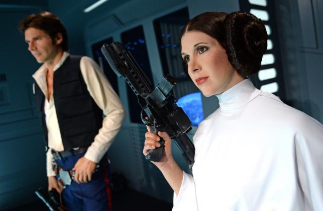 Księżniczka Leia i Han Solo w muzeum Madame Tussauds w Berlinie