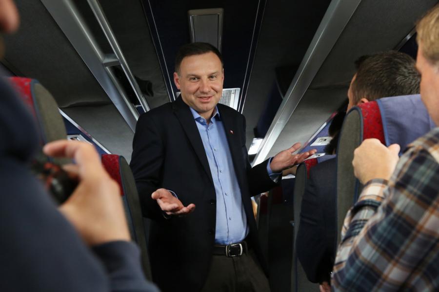 Andrzej Duda w dudabusie