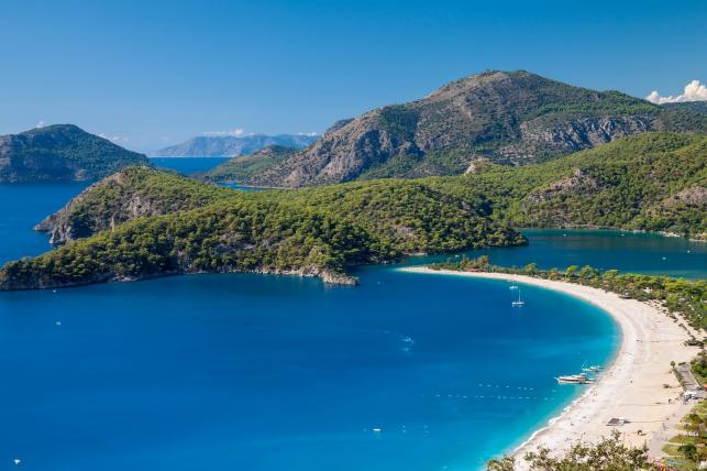 Plaża w Ölüdeniz, Riwiera Turecka, Turcja