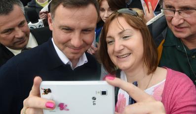 Andrzej Duda ze swoimi wyborcami