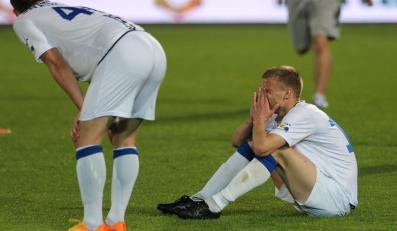 Zawiszy Bydgoszcz po przegranym meczu grupy spadkowej T-Mobile Ekstraklasy 2:3 z miejscowym Ruchem w Chorzowie