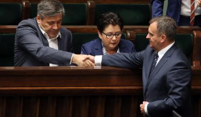 Wicepremier, minister gospodarki Janusz Piechociński, minister spraw wewnętrznych Teresa Piotrowska oraz minister skarbu Włodzimierz Karpiński