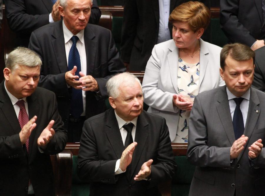 Marek Suski, Jarosław Kaczyński i Mariusz Błaszczak w Sejmie