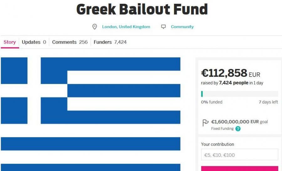 Publiczna zbiórka na rzecz Grecji