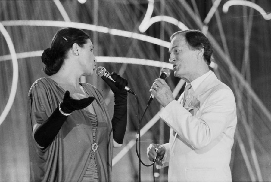 Zbigniew Kurtycz i Barbara Dunin w Opolu w 1989 roku