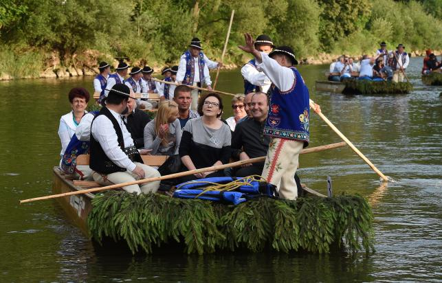 Ewa Kopacz na spływie Dunajcem