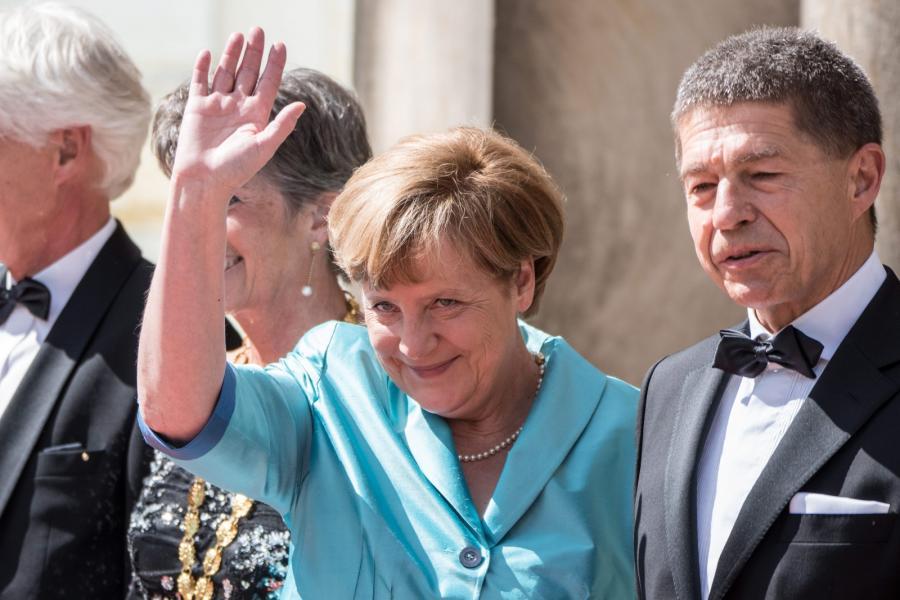 Angela Merkel i jej mąż Joachim Sauer na Festiwalu Wagnerowskim w Bayreuth