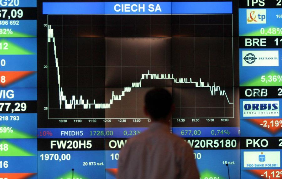 Wykres giełdowego debiutu Ciech SA