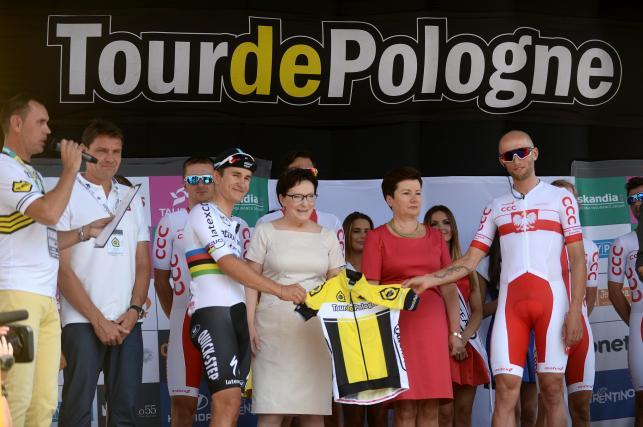 Premier Ewa Kopacz na starcie Tour de Pologne