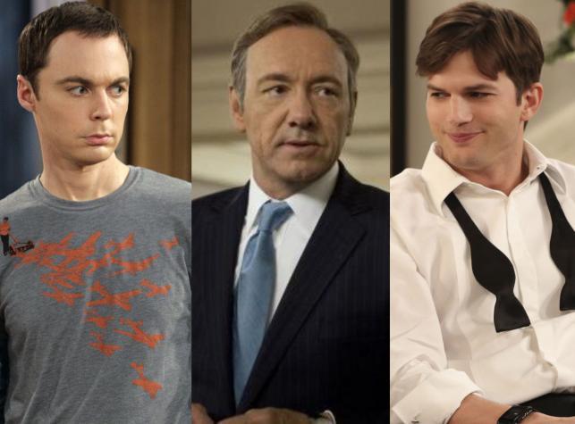 Jim Parsons, Kevn Spacey, Ashton Kutcher